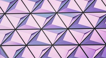 Pattern of repeating pink shapes
